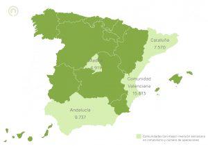 mapa inversion extranjera en España