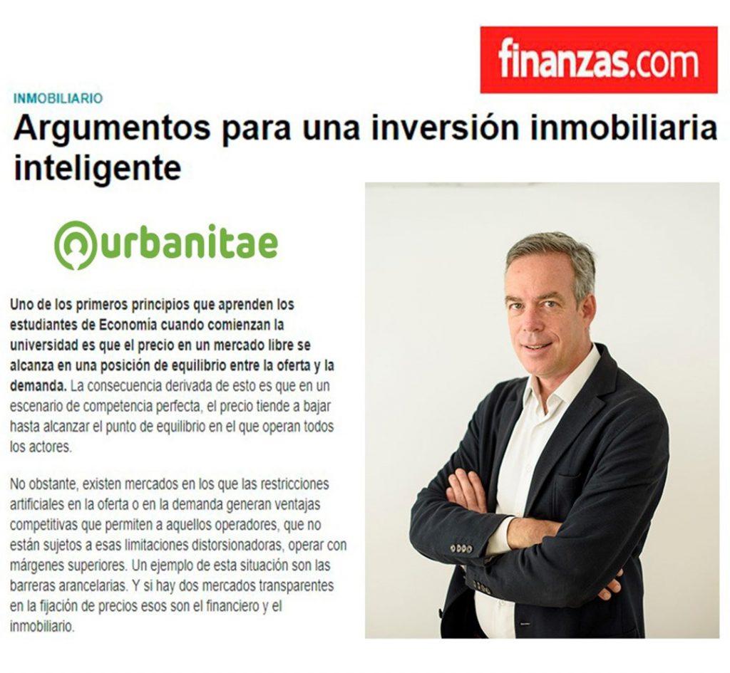 Argumentos de Urbanitae para una inversión inmobiliaria inteligente